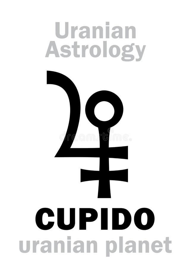 Astrologia: CUPIDO &-x28; uranian planet&-x29; ilustracja wektor