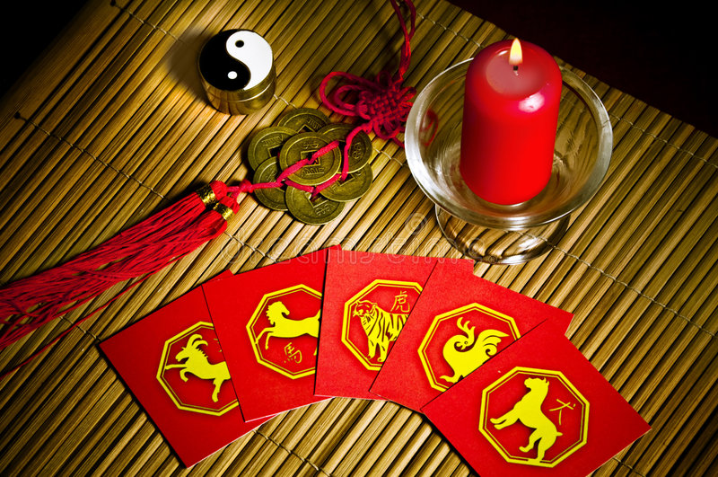 Astrologia de China imagem de stock