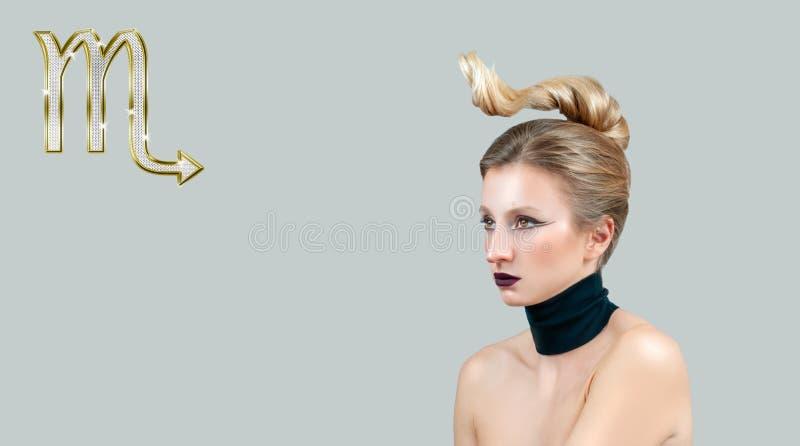 Astrologia e horóscopo, sinal do zodíaco da Escorpião foto de stock royalty free