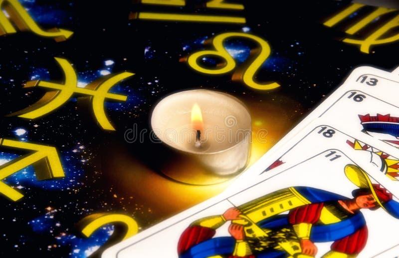 Astrologia e tarots fotografia stock