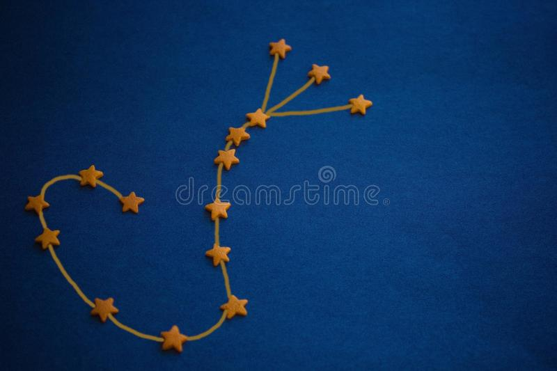 Astrologia, Escorpião da constelação foto de stock