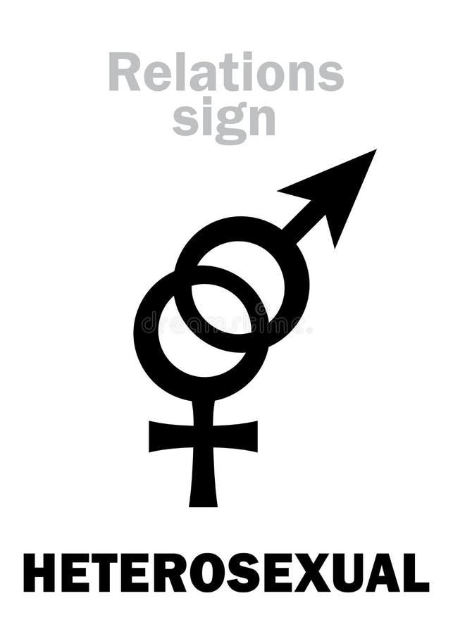 Astrologia: ( ETEROSESSUALE; Straight) illustrazione di stock