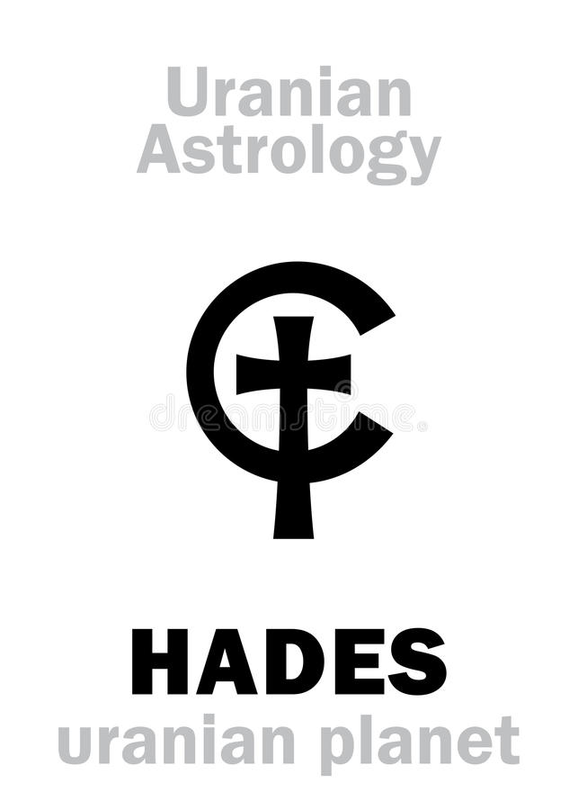 Astrologia: HADES &-x28; uranian planet&-x29; royalty ilustracja
