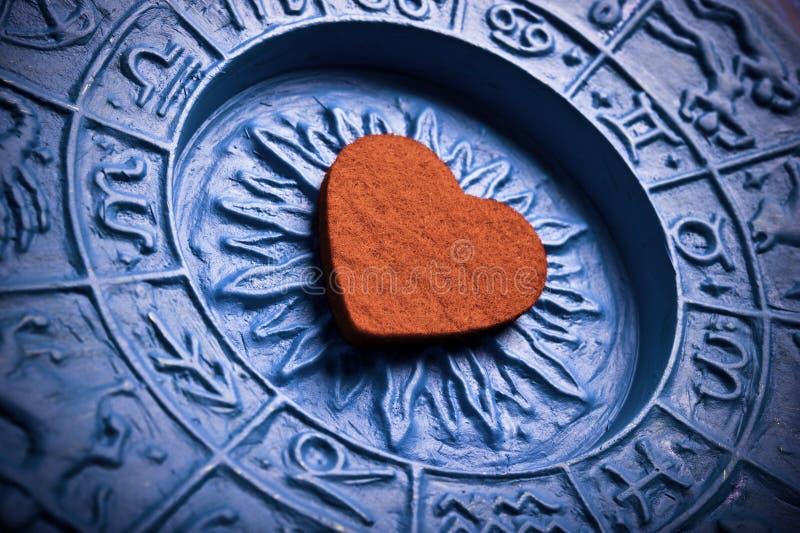 Astrologia i miłość fotografia stock