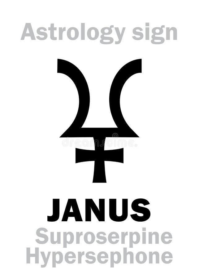 Download Astrologia: pianeta JANUS illustrazione vettoriale. Illustrazione di hieroglyphics - 117978342