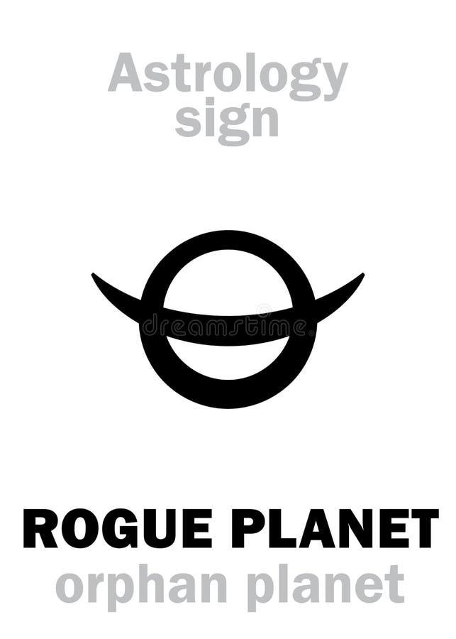 Astrologia: Planeta órfão do PLANETA DESONESTO ilustração stock