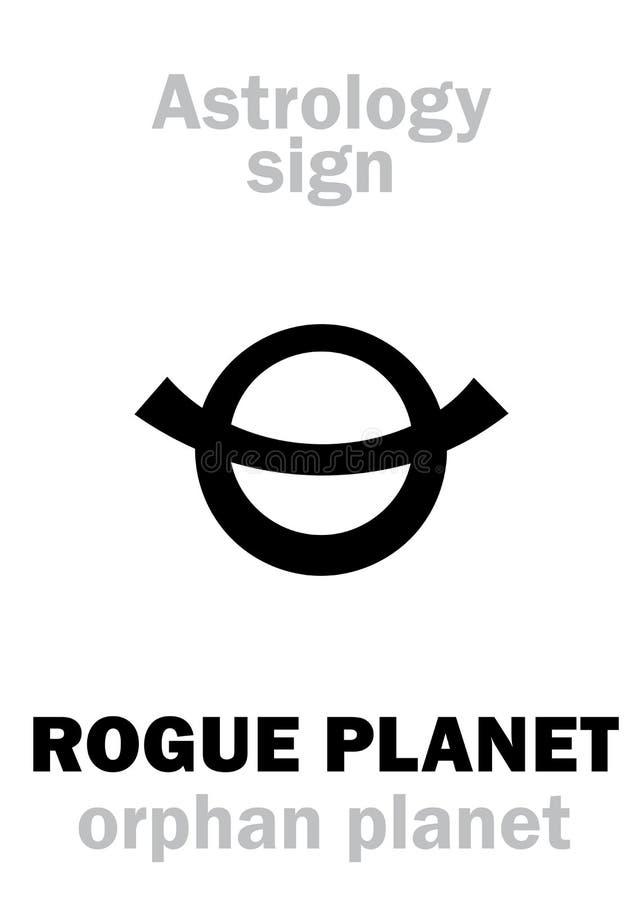 Astrologia: Planeta órfão do PLANETA DESONESTO ilustração royalty free
