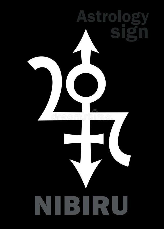 Astrologia: Planeta órfão NIBIRU ilustração stock
