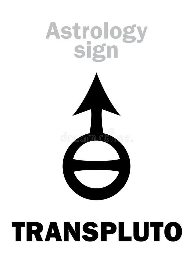 Astrologia: Planeta de TRANSPLUTO ilustração stock