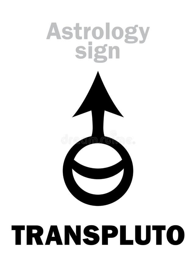 Astrologia: Planeta de TRANSPLUTO ilustração do vetor
