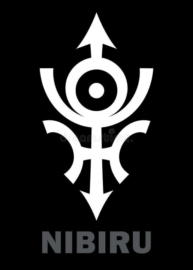 Astrologia: Planeta desonesto NIBIRU ilustração royalty free