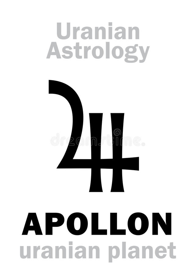 Astrologia: Planeta uranian de APOLLON ilustração do vetor