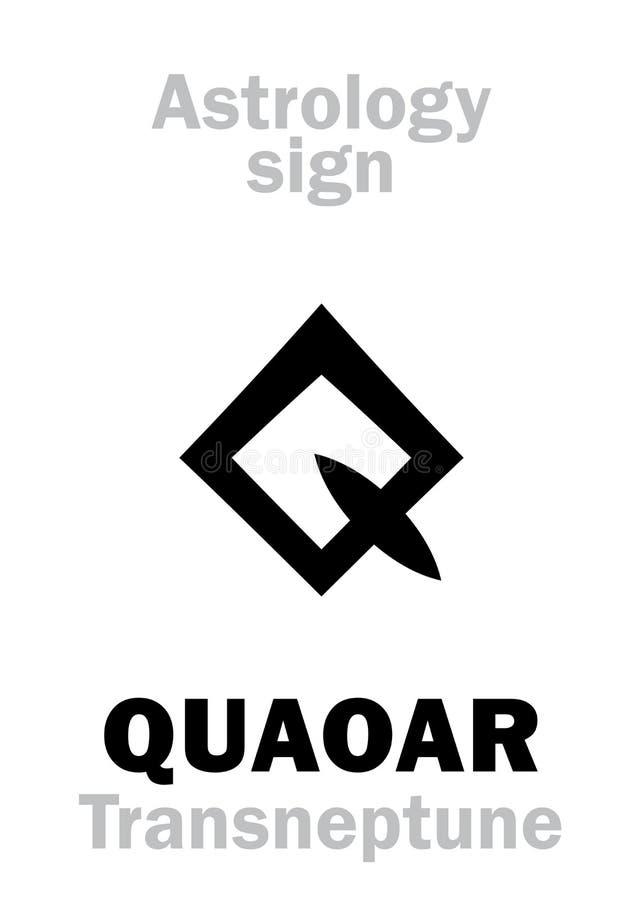 Astrologia: planetoid QUAOAR ilustração royalty free