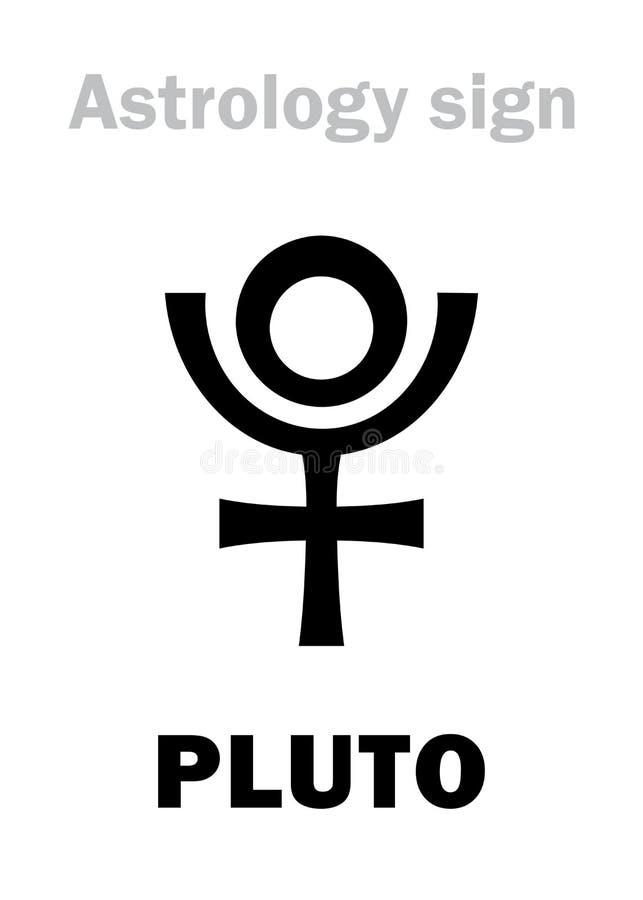 Astrologia: PLUTÃO do planeta ilustração stock