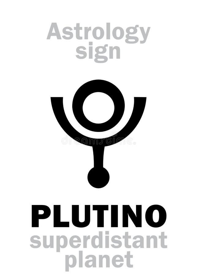 Astrologia: PLUTINO ilustração stock