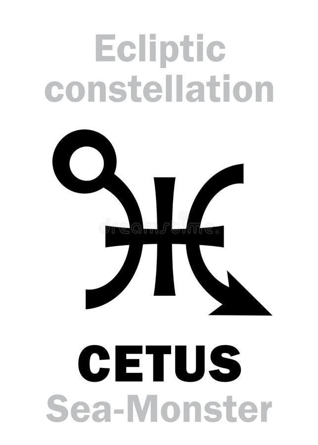 Astrologia: Segno di costellazione CETUS il mostro marino royalty illustrazione gratis