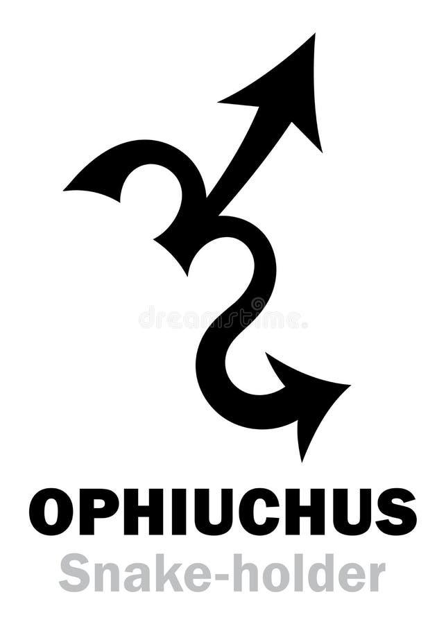 Download Astrologia: Segno Di Zodiaco OPHIUCHUS Il Serpente-supporto Illustrazione Vettoriale - Illustrazione di universo, cielo: 117980795
