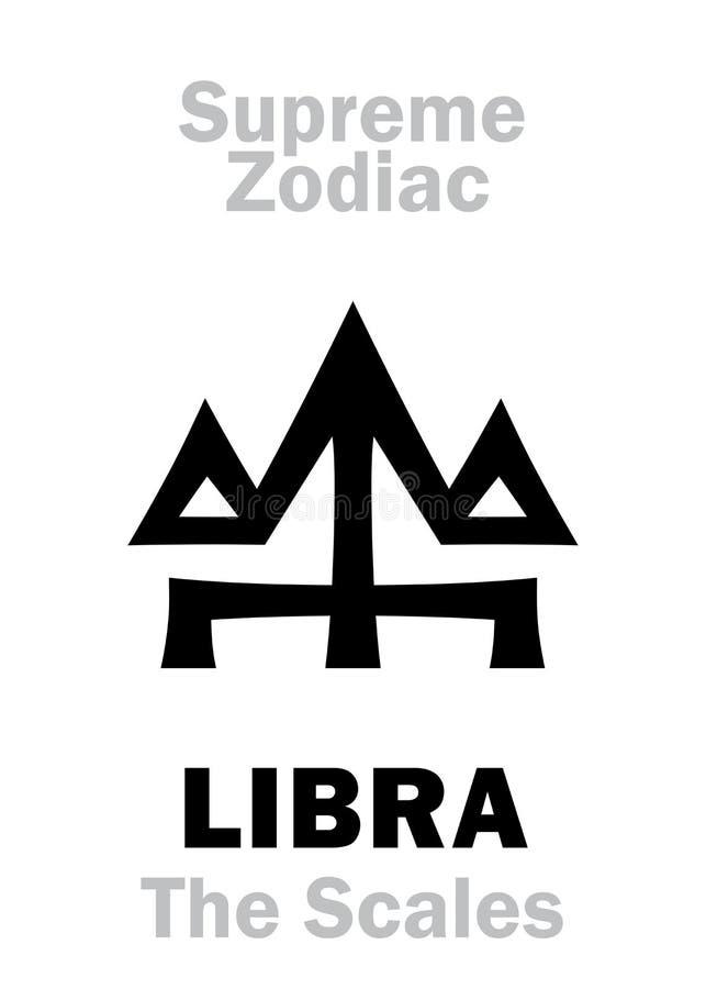 Astrologia: Zodiaco supremo: BILANCIA ( Le scale/Balance) illustrazione di stock