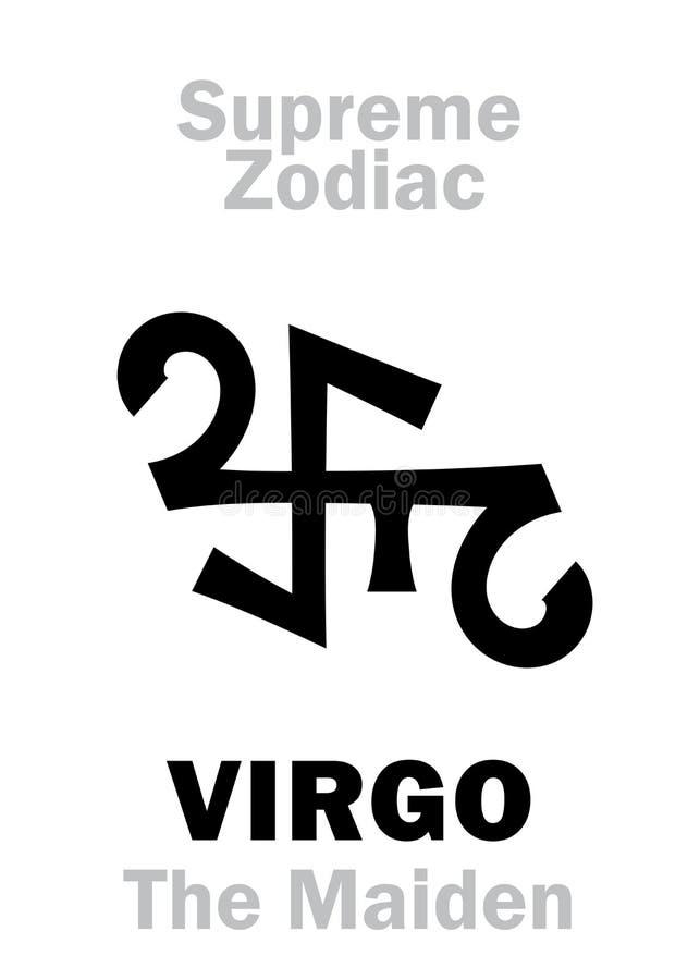 Astrologia: Zodiaco supremo: VERGINE il vergine/ragazza illustrazione di stock