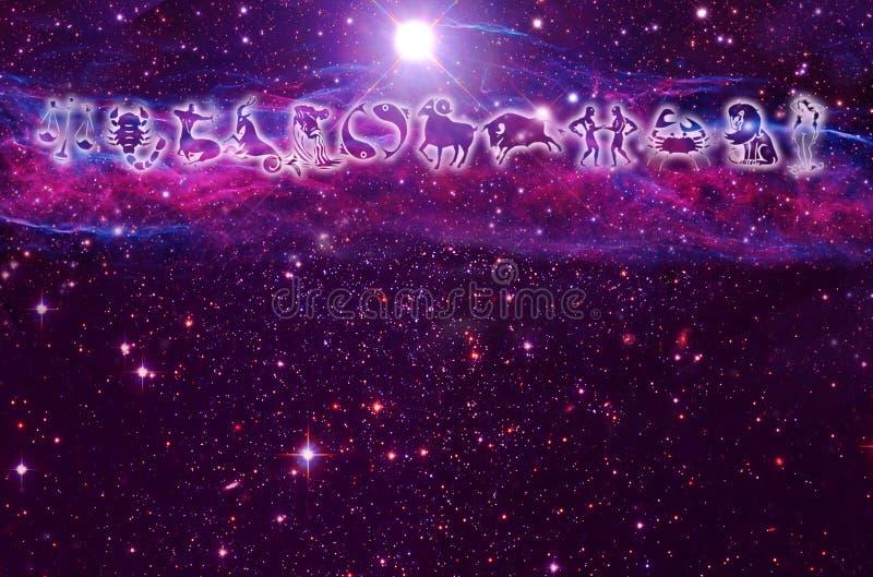 astrologibakgrund stock illustrationer