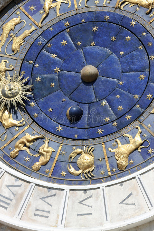 Download Astrological clock stock image. Image of italian, astrology - 14663209