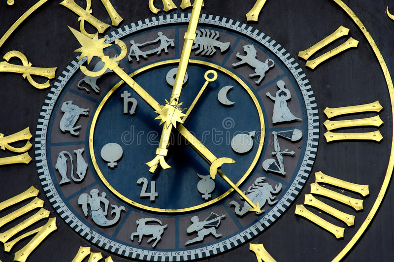 Download Astrological clock stock photo. Image of mind, magical - 3379838