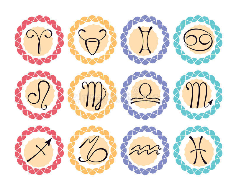 Download Astrological icons stock vector. Image of collection - 26399164