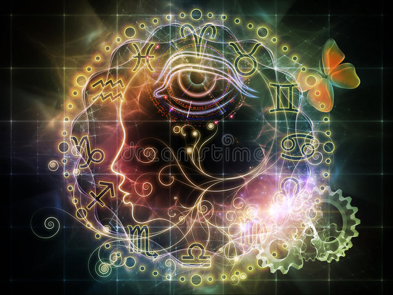 Astrological Profile Royalty Free Stock Photography