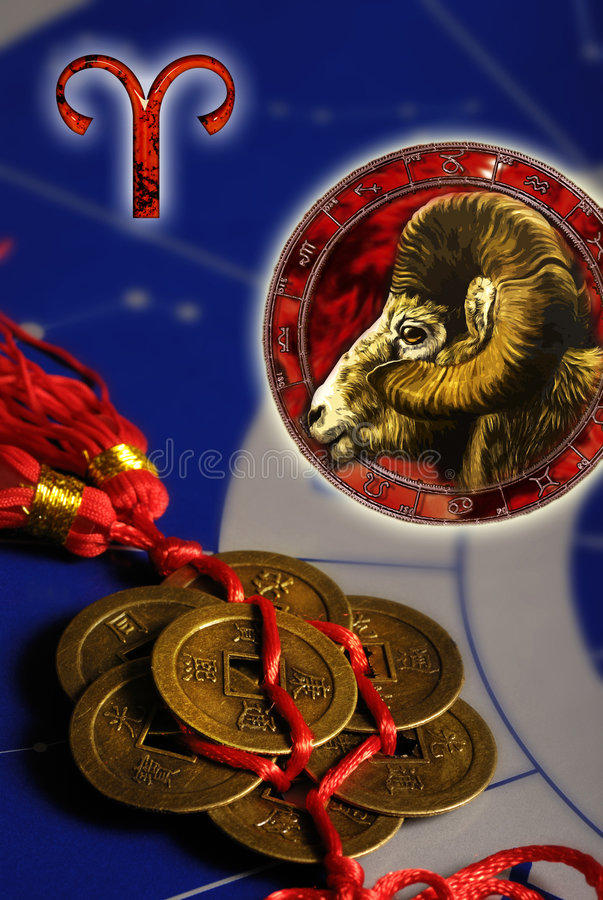 Astrological sign Aries stock illustration