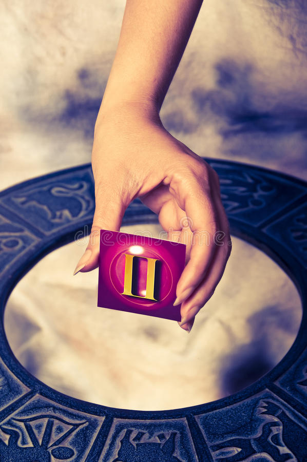 Download Astrological sign Gemini stock photo. Image of prediction - 10482560