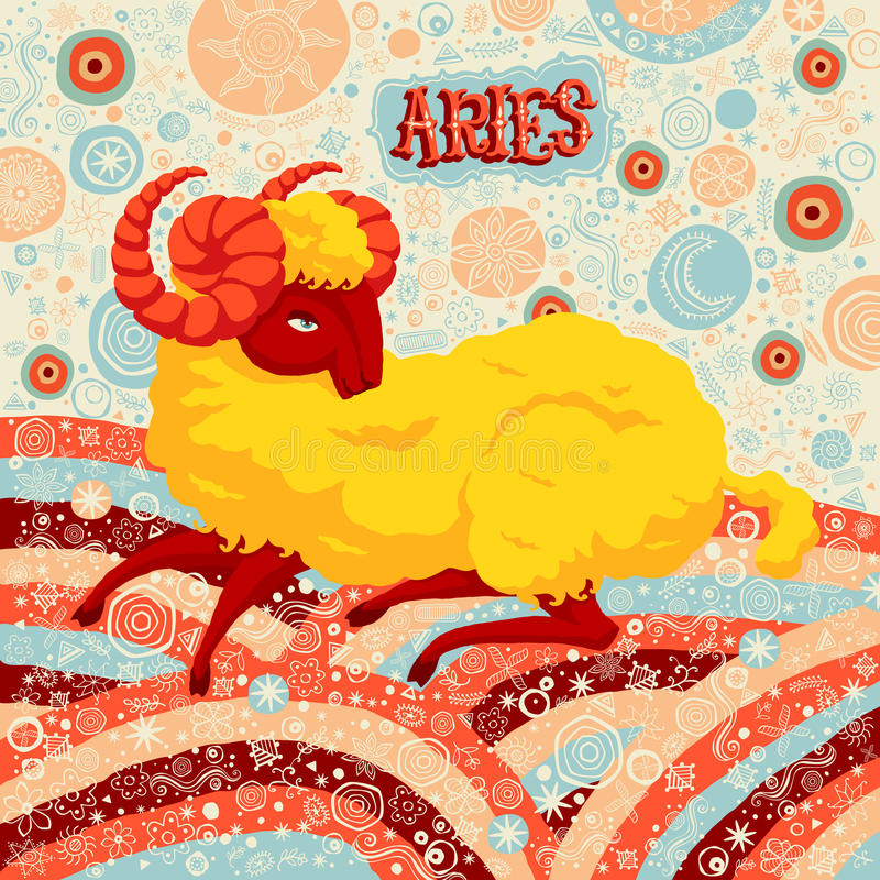 Astrological zodiac sign Aries. Part of a set of horoscope signs. Vector illustration vector illustration