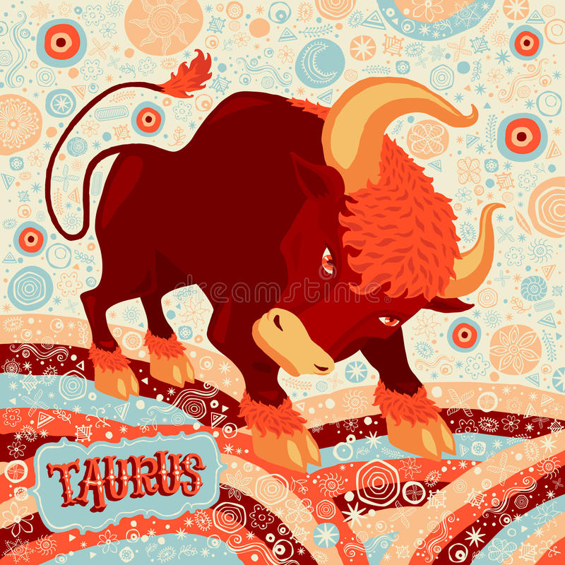Astrological zodiac sign Taurus. Part of a set of horoscope signs. Vector illustration stock illustration