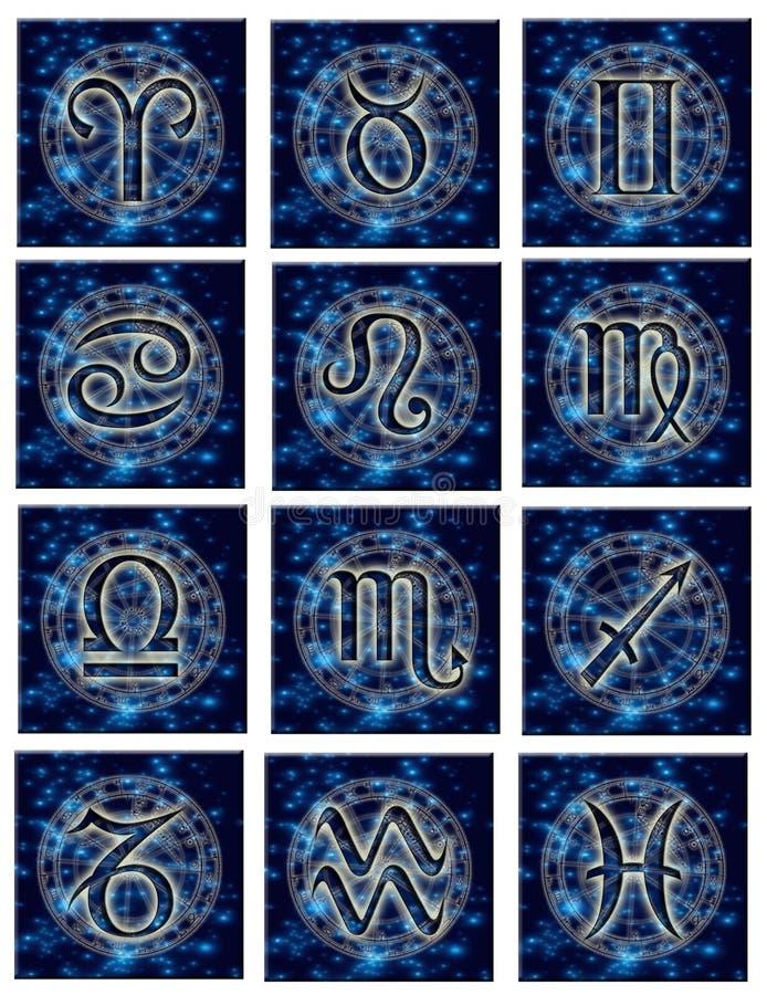 astrologiczni znaków ilustracji