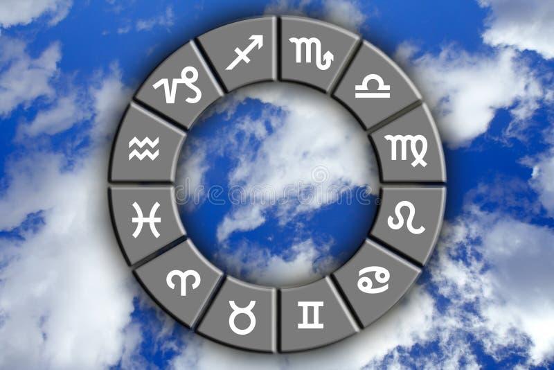astrologiczni znaków royalty ilustracja