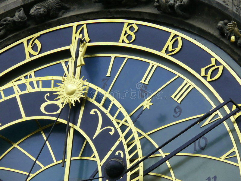 astrologiczny zegarowy Prague fotografia royalty free