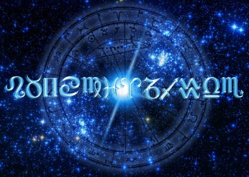 Astrologie illustration stock