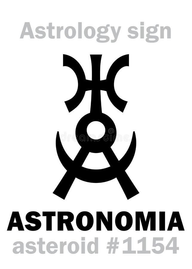 Astrologie : ASTRONOMIA en forme d'étoile illustration libre de droits
