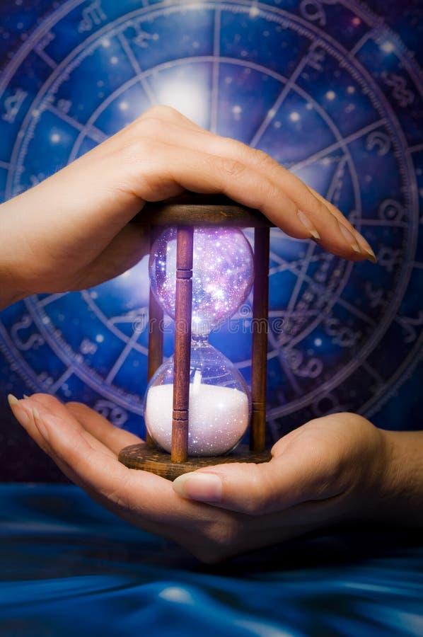 Astrologie en kosmische tijd royalty-vrije stock foto's