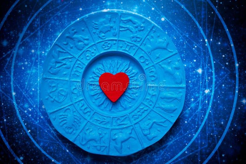 Astrologie en liefde stock afbeelding