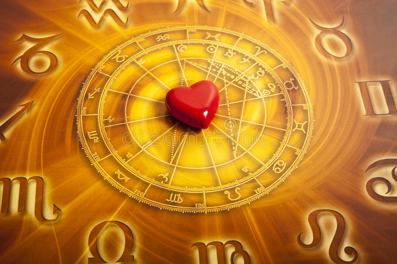 Astrologie et amour images stock