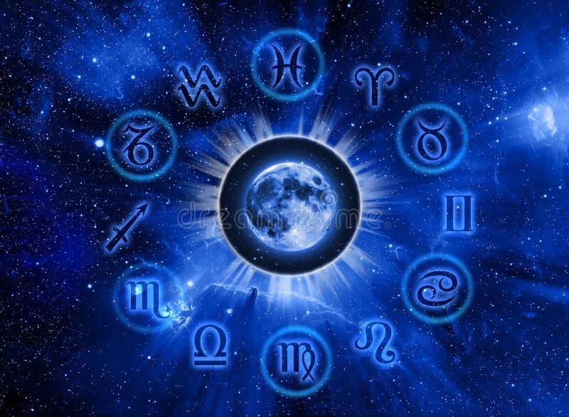 Astrologie et lune illustration stock