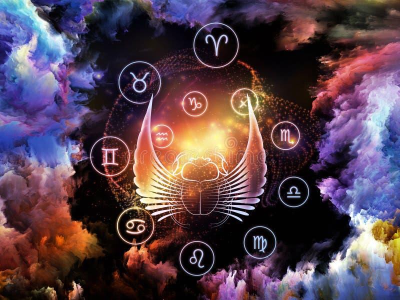 Astrologie-Hintergrund stockfoto