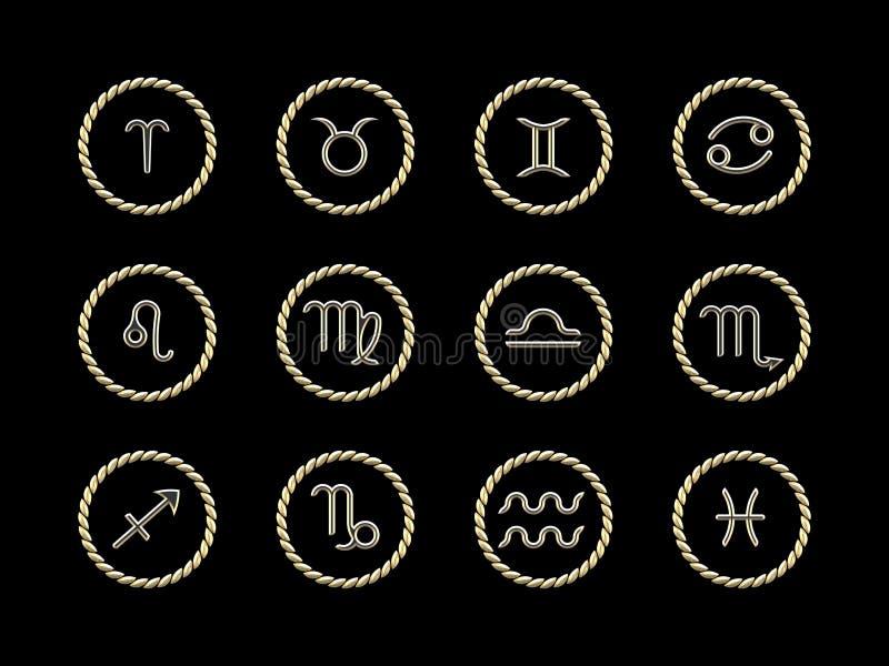 Astrologie kennzeichnet (EPS+JPG) lizenzfreie abbildung