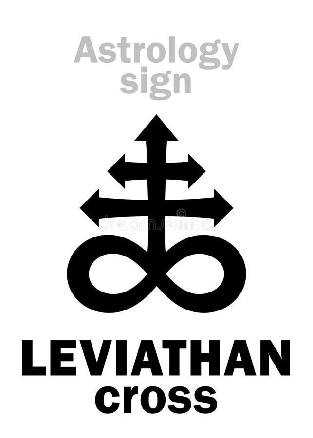 Astrologie : NAVIRE GÉANT la croix satanique illustration libre de droits