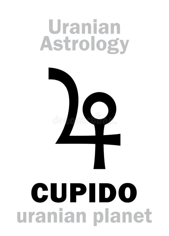 Astrologie : Planète uranian de CUPIDO illustration stock