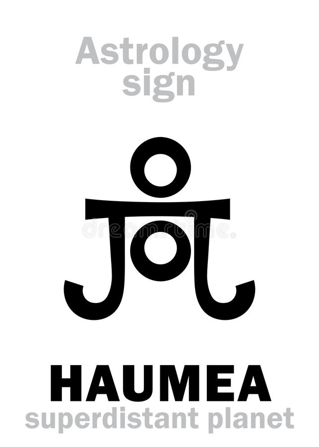 Astrologie: planeet HAUMEA vector illustratie