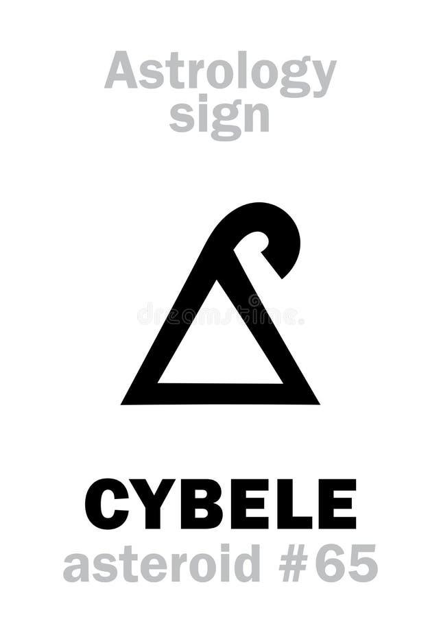 Astrologie: stervormig CYBELE Magna Mater stock illustratie