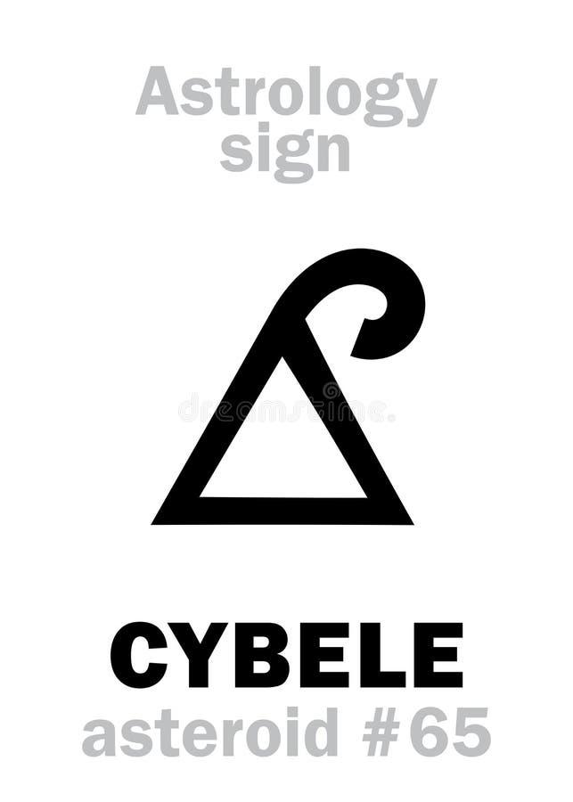 Astrologie: stervormig CYBELE Phrygia royalty-vrije illustratie
