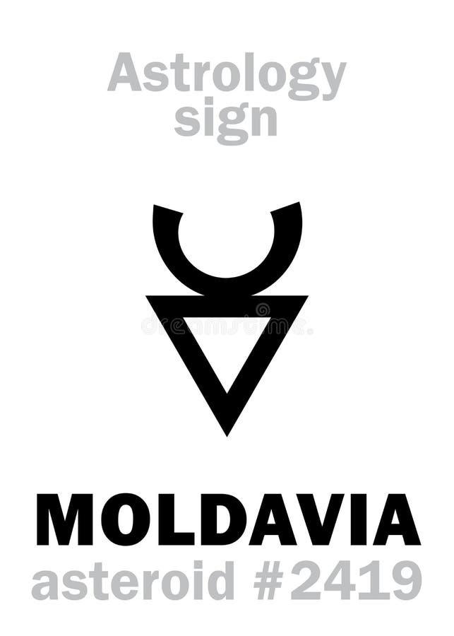 Astrologie: stervormig MOLDAVIË stock illustratie