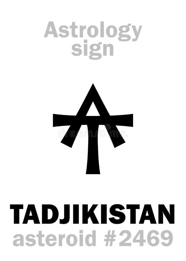 Astrologie: stervormig TADZHIKISTAN royalty-vrije illustratie